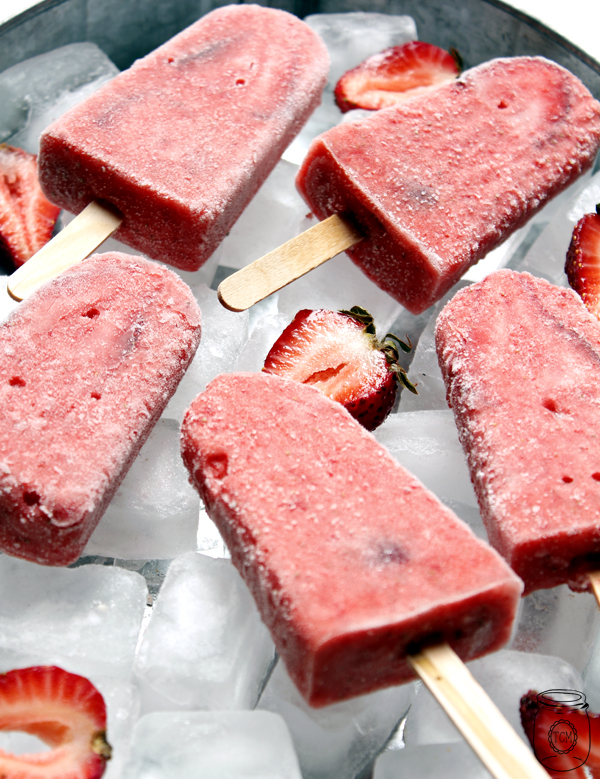 Summer Bucket List - Strawberry Daiquiri Ice Lollies