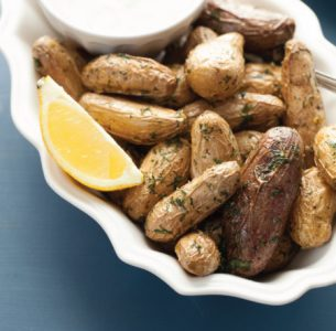 Lemon Dill Sauce & Roasted Potatoes