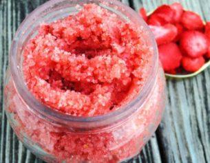 Strawberry-Lavender Body Scrub Recipe