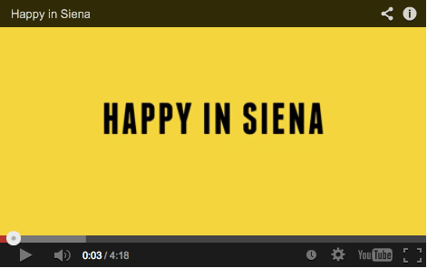 This video convinced me to go to Siena