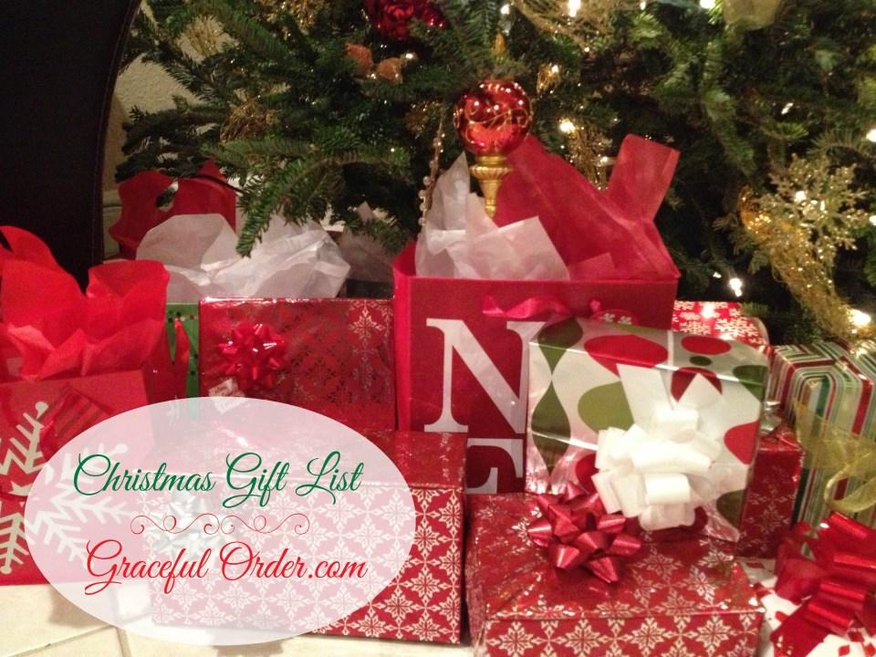 Organizing Christmas Gifts
