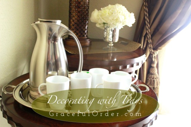 Decorating with trays