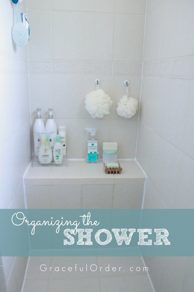 Organizing the Shower Area