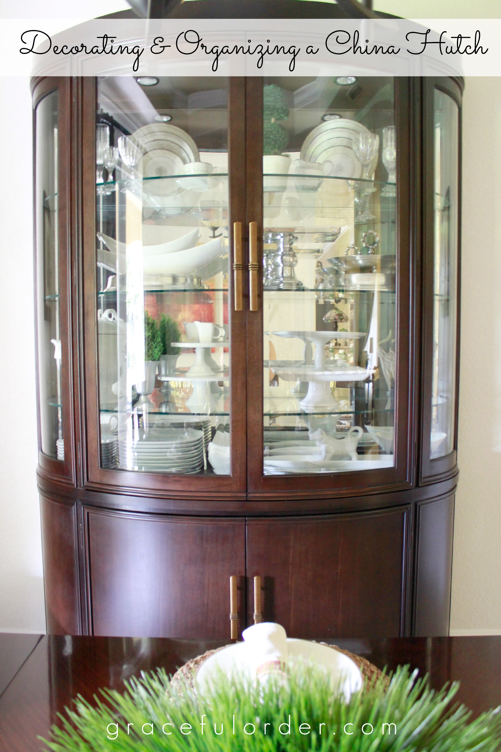 Decorating a China Cabinet / Hutch - Graceful Order