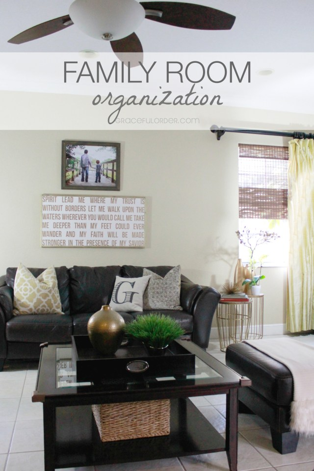 Organized Home Week 10 - The Family Room
