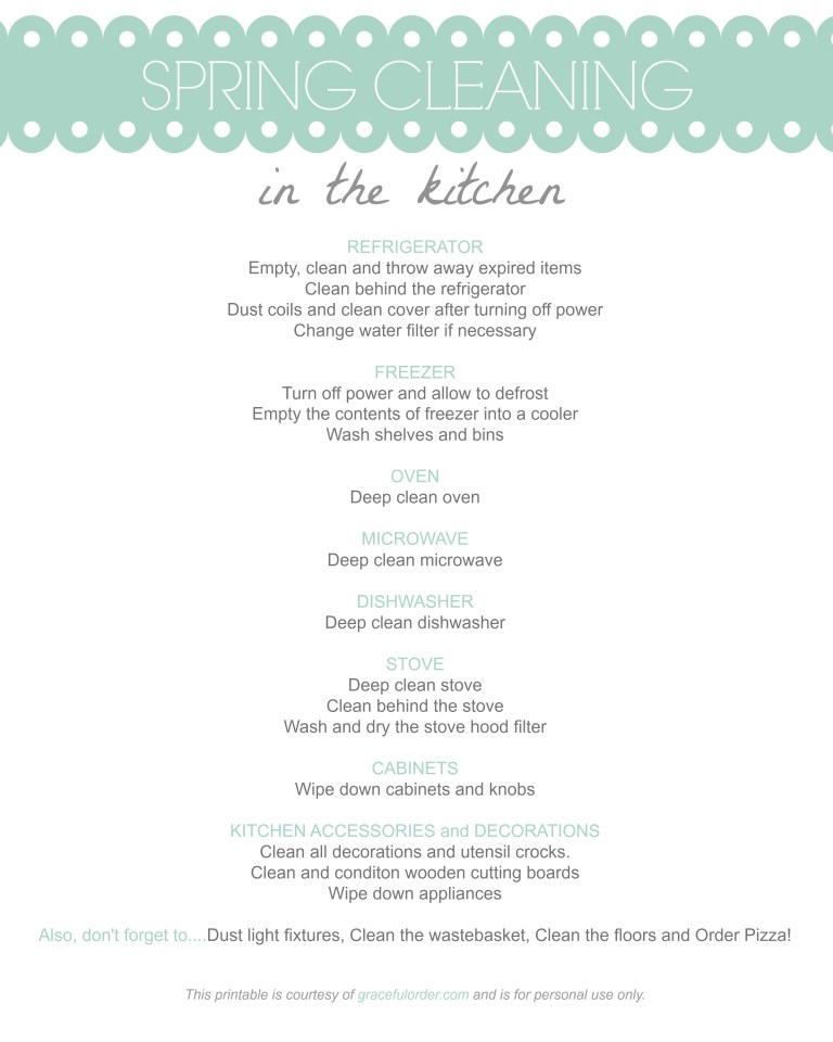 Spring Cleaning - The Kitchen