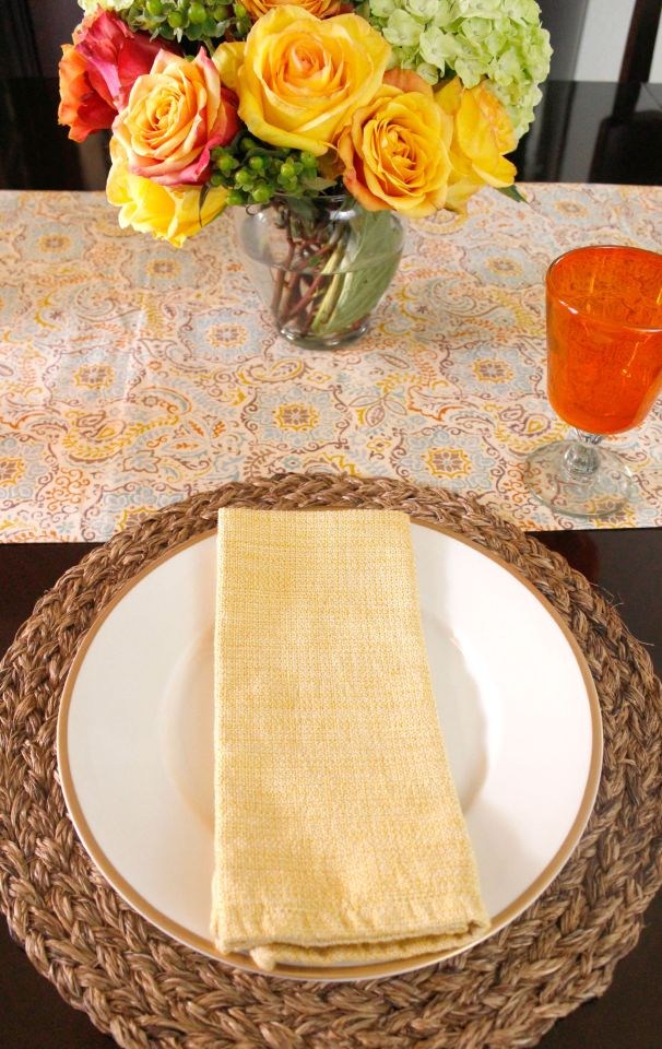 Decorating the Table for Fall