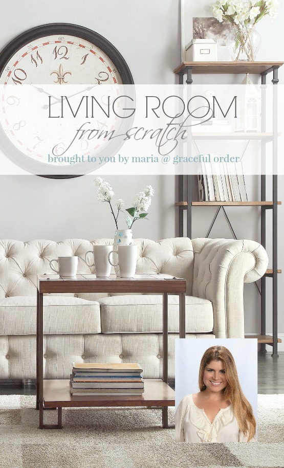 Living Room from Scratch with Wayfair