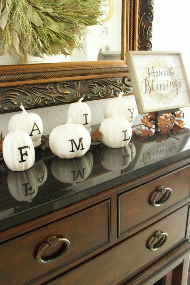 Fall Buffet Decorating