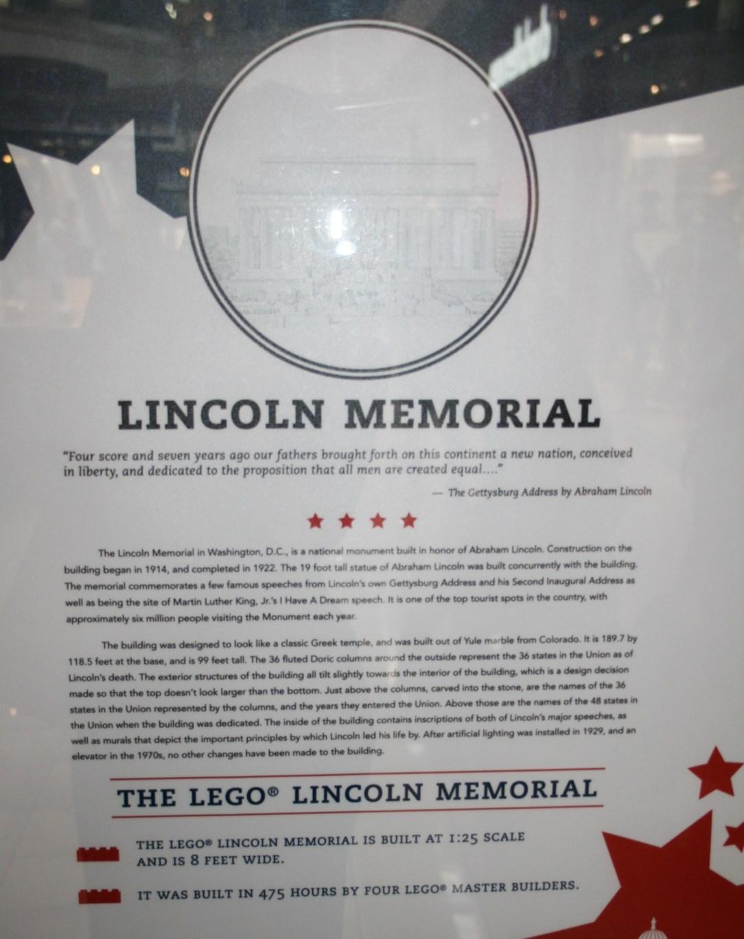 Lincoln Memorial Writing