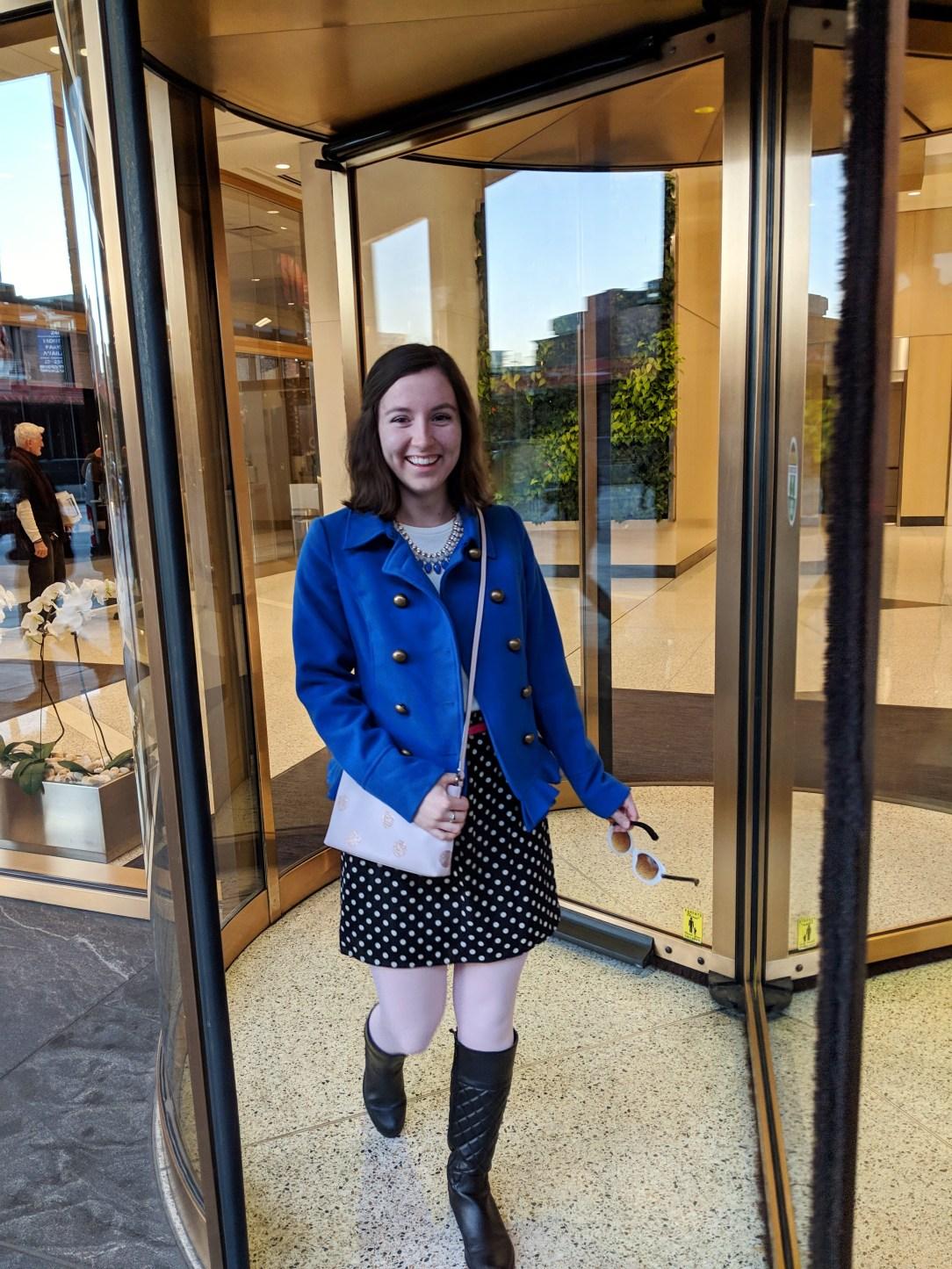 stylish polka dots cute fashion blogger
