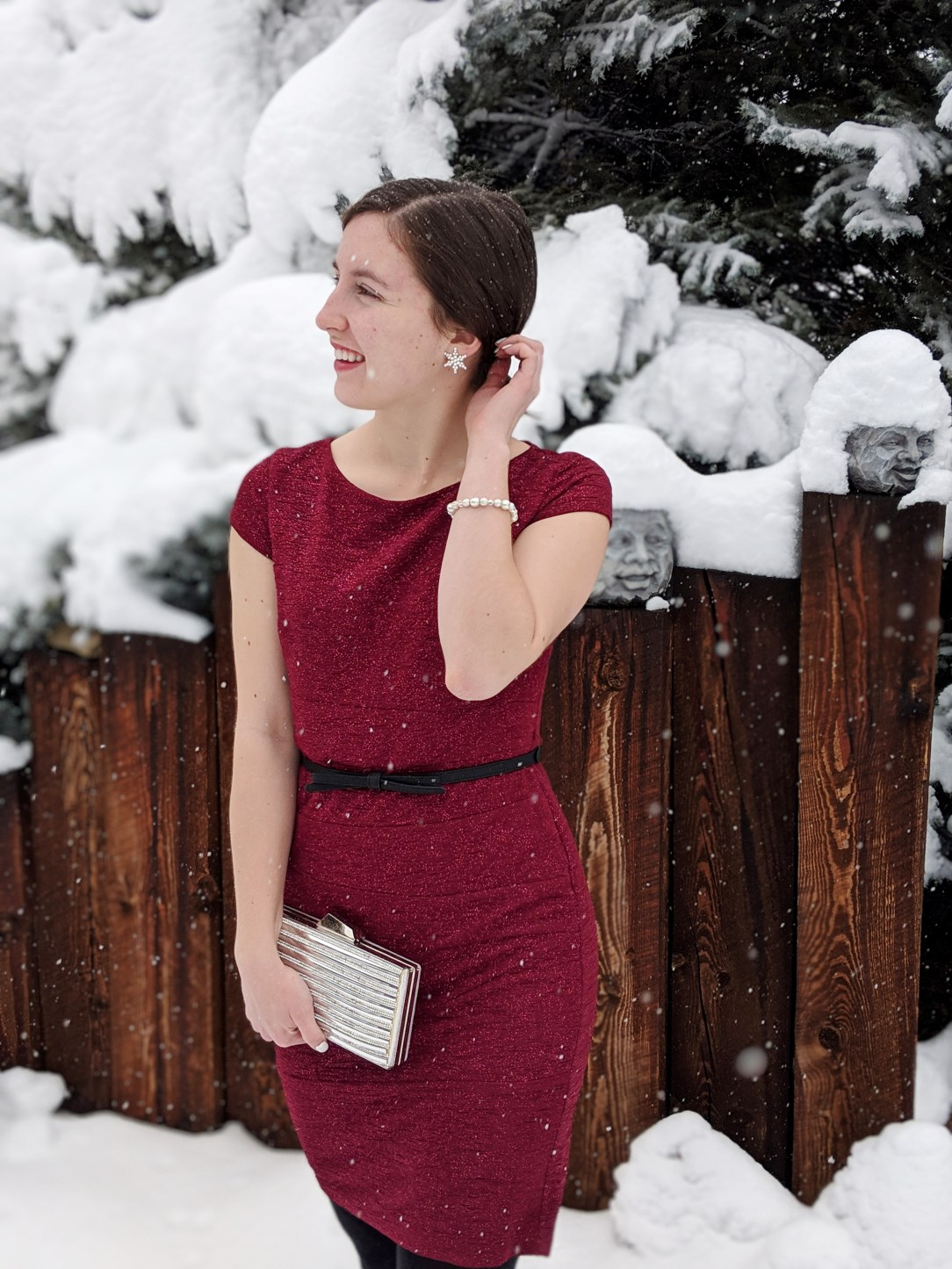 classy sparkly holiday outfit