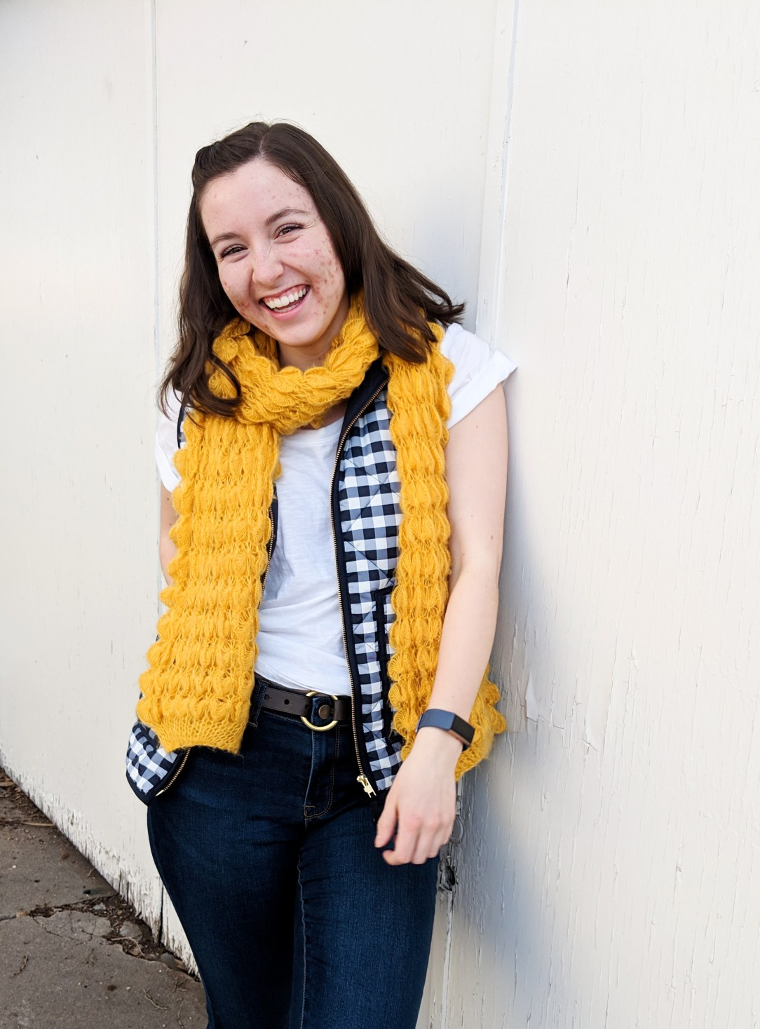 yellow and navy outfit to wear for the super bowl