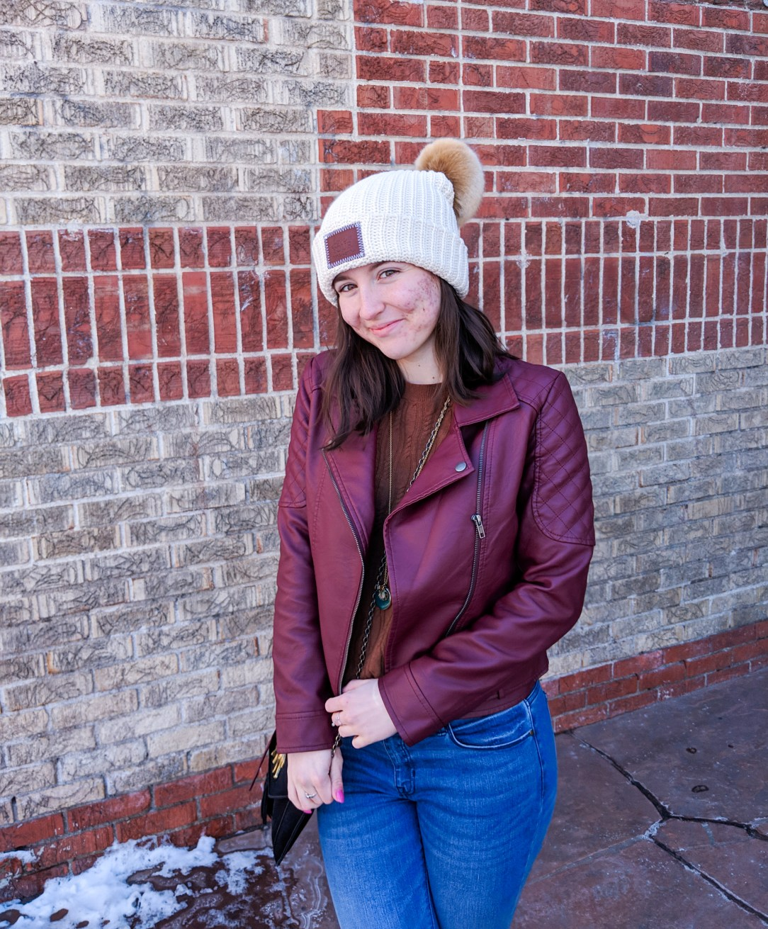 beanie, winter layers, college fashion, dressing for cold