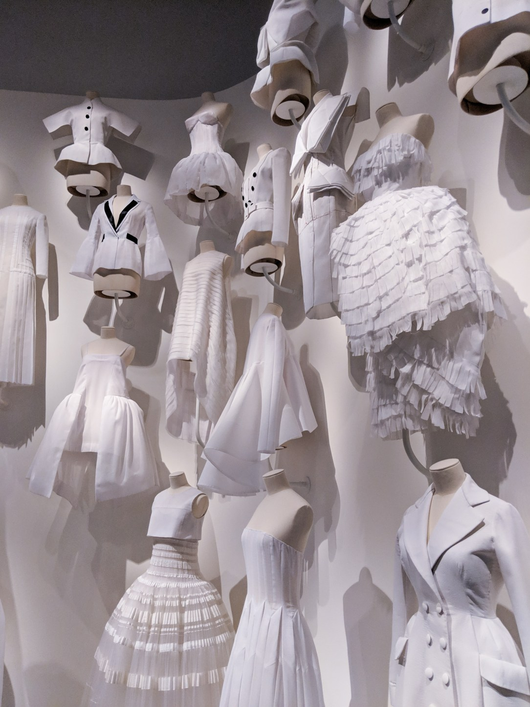 Dior white gowns