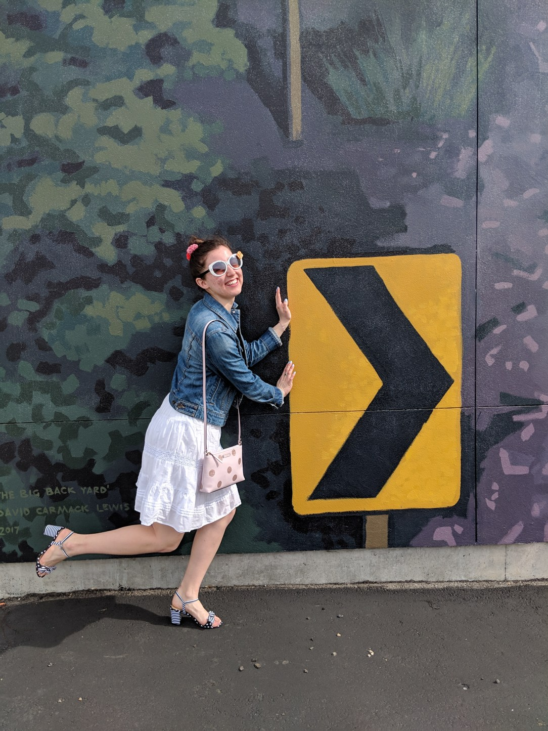 spring break, striped heels, white skirt