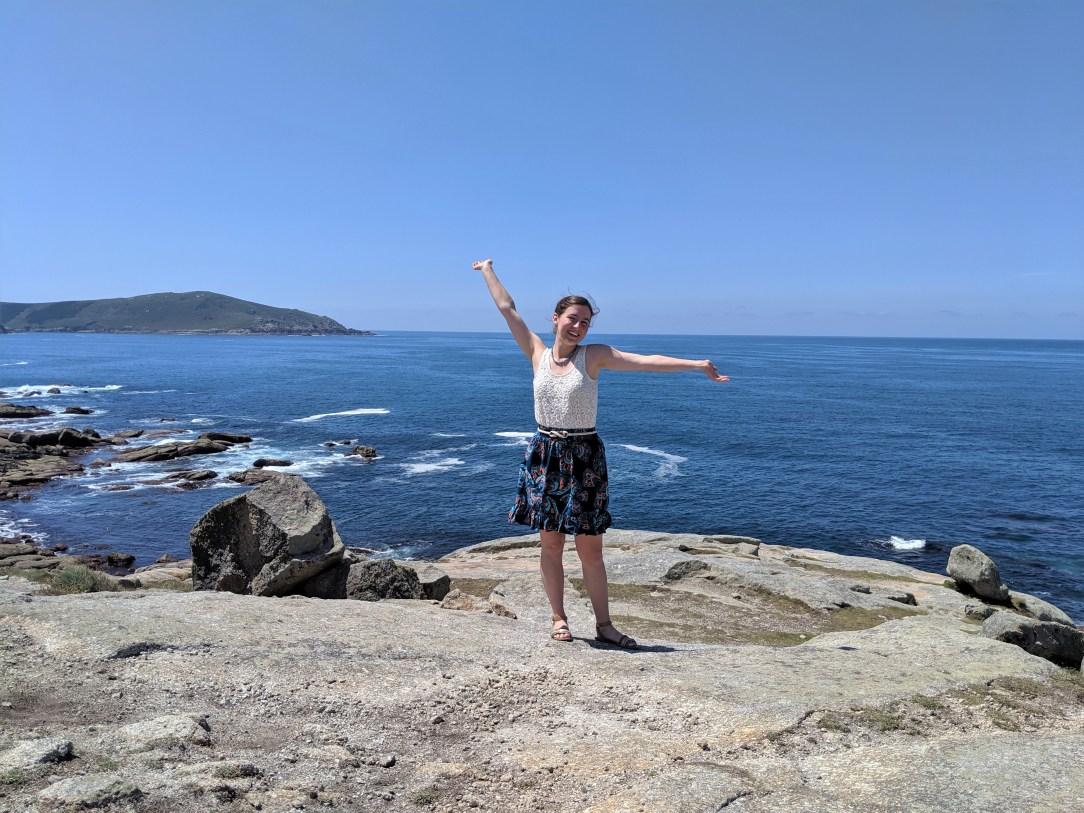 Atlantic Ocean, Spanish coast, Muxia, pattern mixing, summer style, travel style