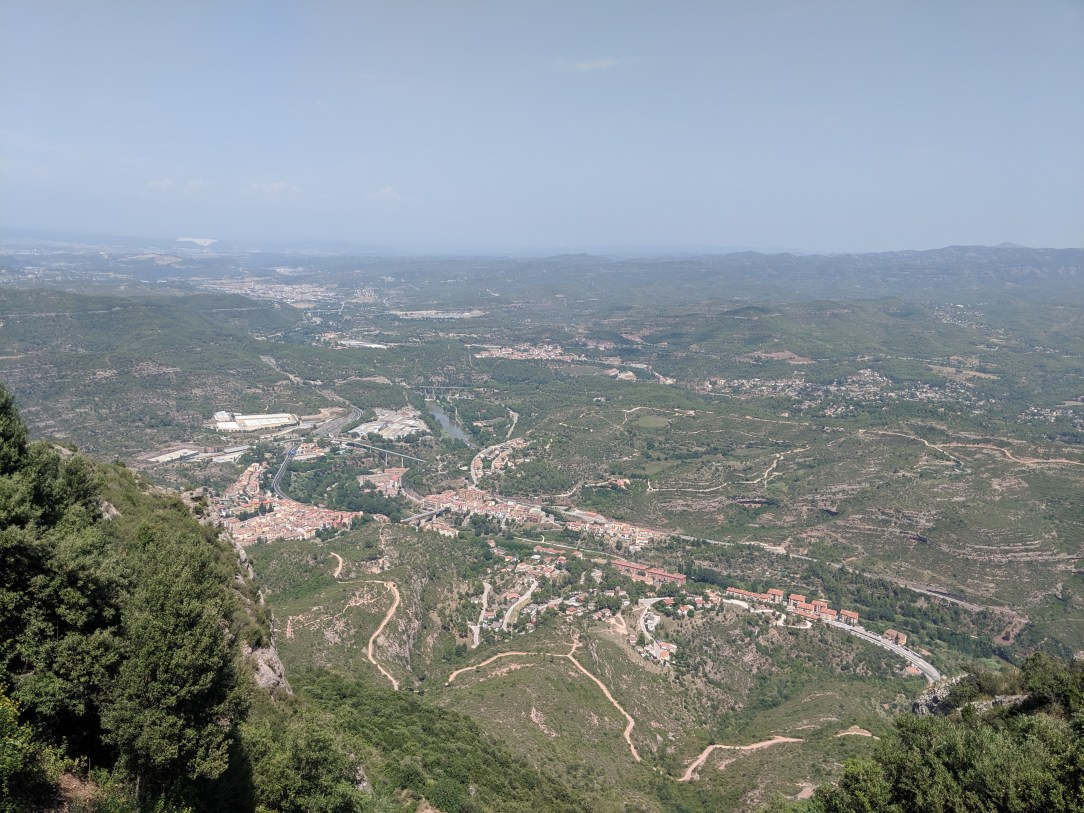 views, mountain range, Catalonia, Spain, Barcelona