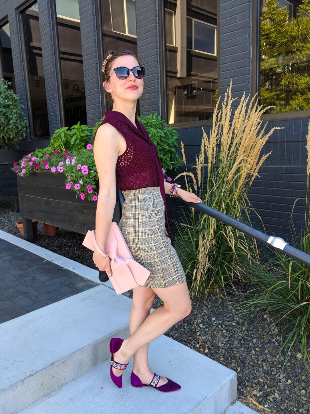 bow purse, blush clutch, Stitch Fix