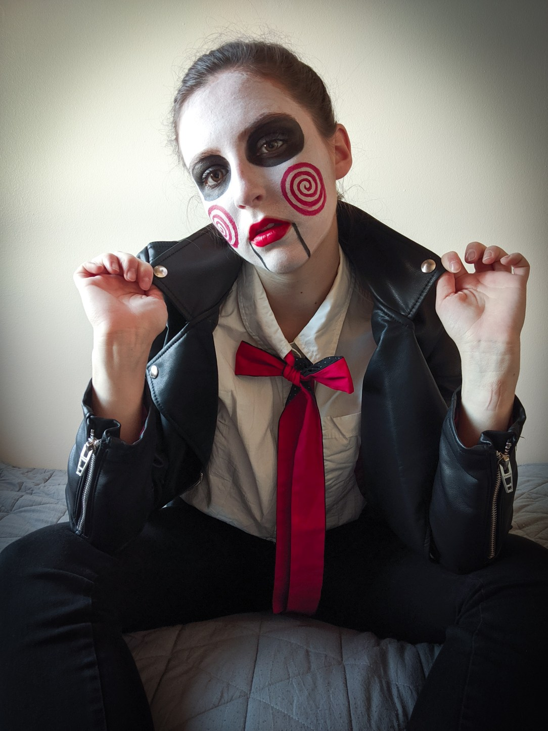 Saw, creepy, scary costume, Billy the Puppet