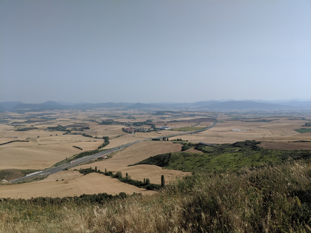 Spanish meseta, wheat fields, hiking, Spanish countryside, Camino Frances