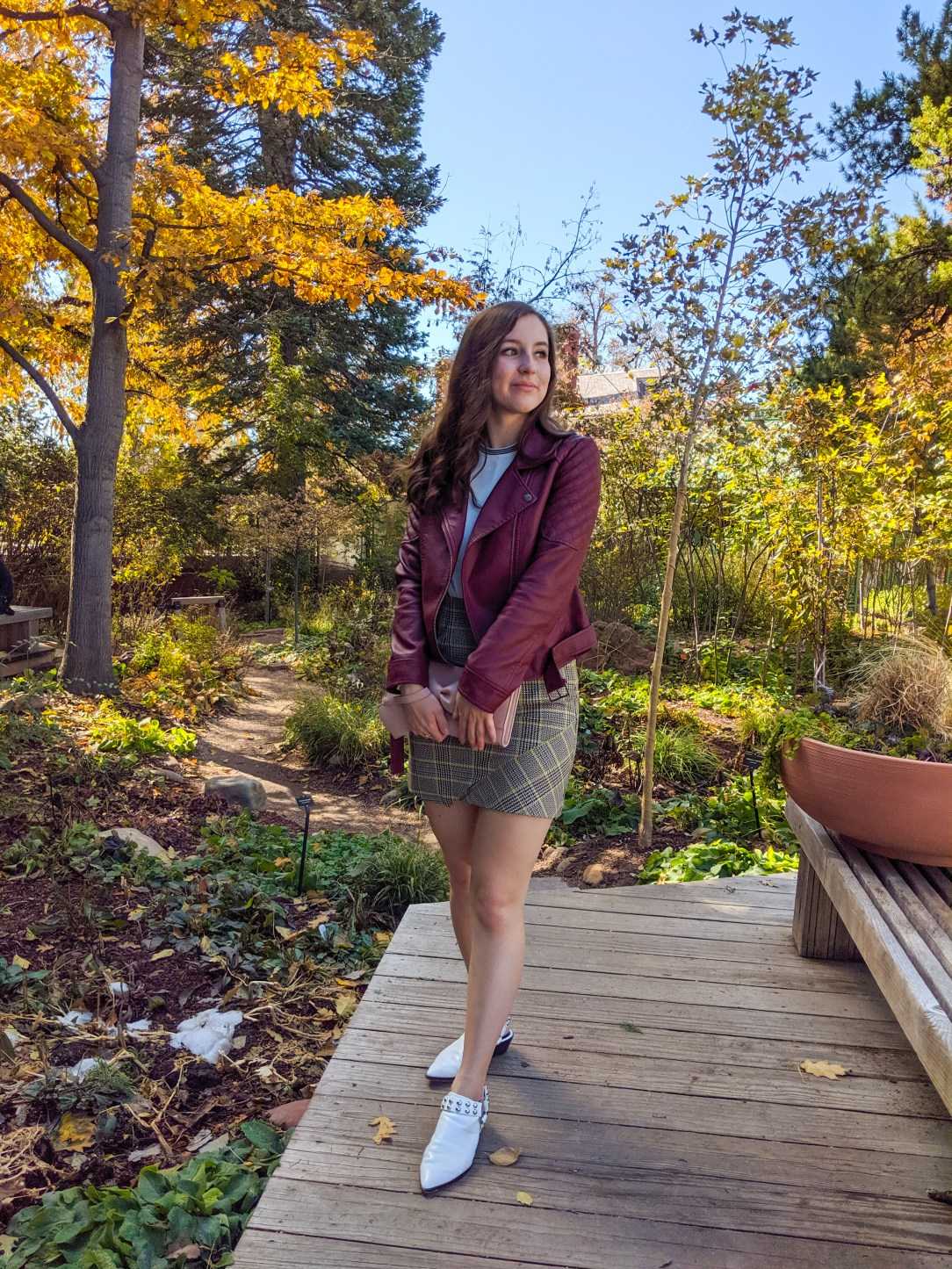curly hair, fall outfit, Denver fashion blogger, college fashion