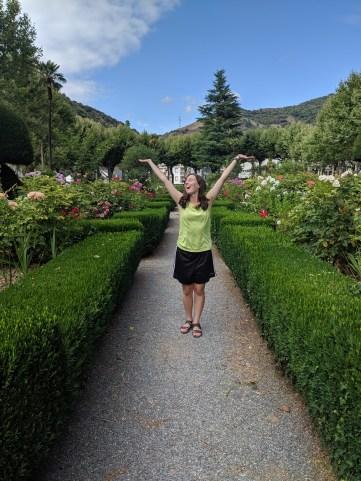 Villafranca, Spain, rose gardens, peregrinos, buen camino
