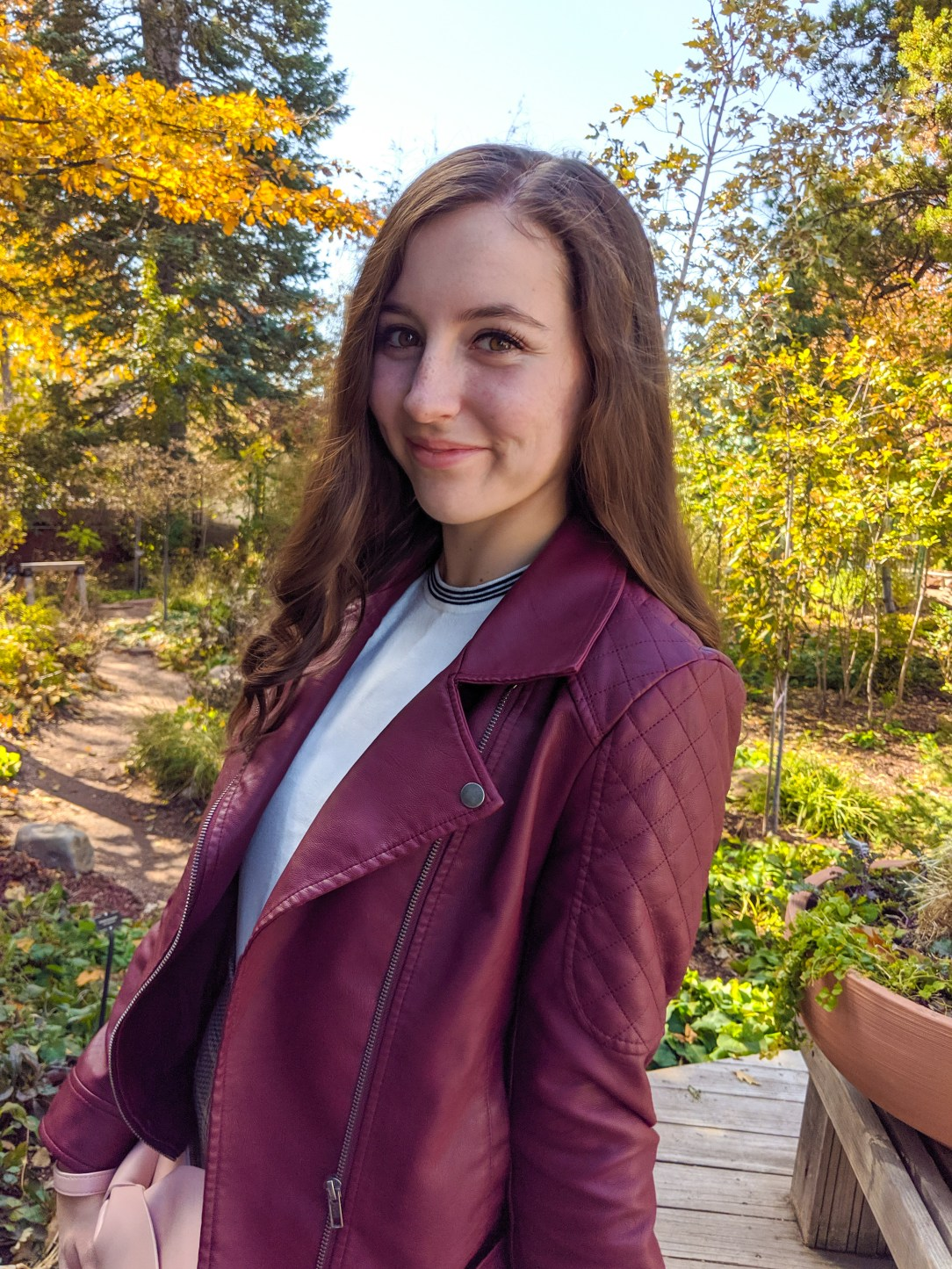 burgundy jacket, pleather jacket, moto jacket, BB Dakota