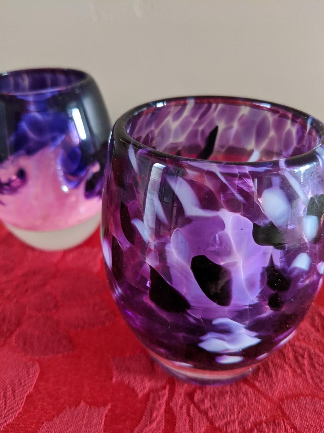 glass votive, candle votive, Christmas decorations