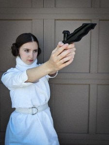 Princess Leia, homemade costume, Star Wars nerd