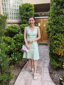 green-plaid-dress-girly-outfit-elegance