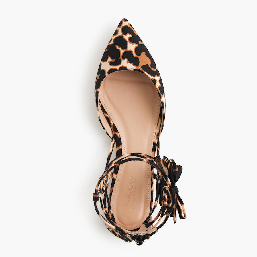 Animal print pointy ballet flats
