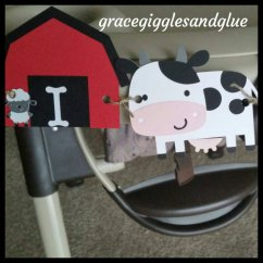 Age For High Chair Patio Table And Chairs With Umbrella Farm Barnyard Party I Am One Highchair Banner