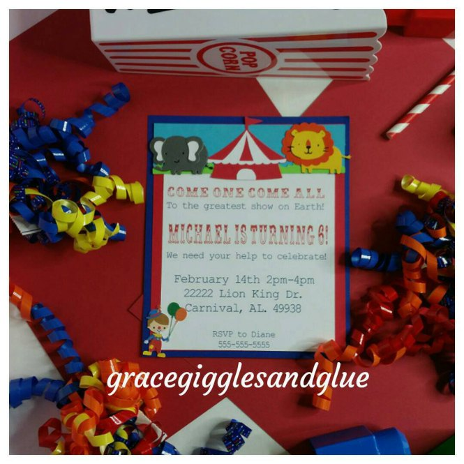 10 Carnival Circus Themed Invitations
