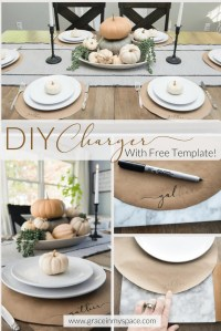 Charger Table Setting & How To Create / DIY A Natural ...