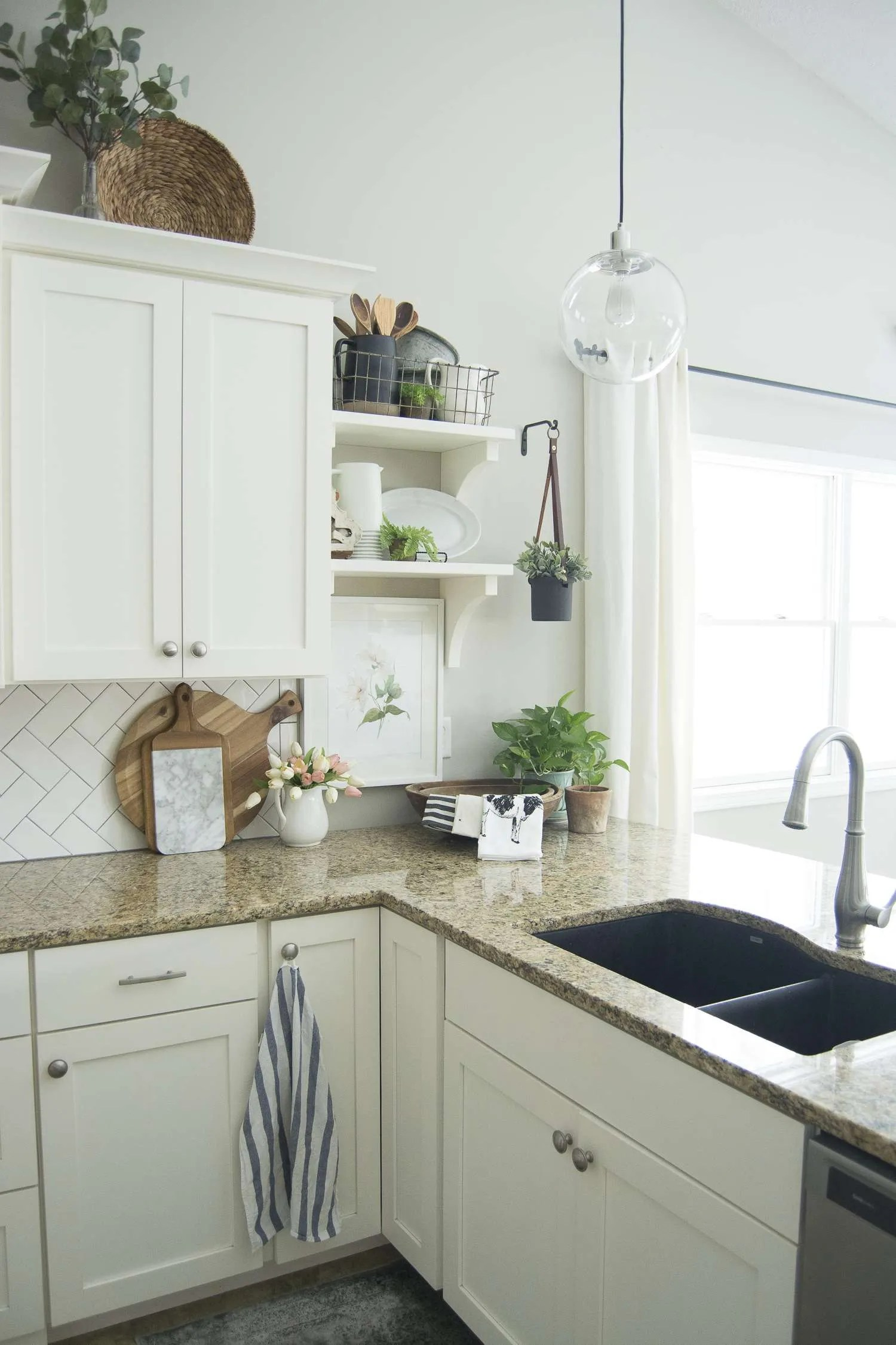 how to decorate your kitchen coffee bar in spring decor easy ways beautify