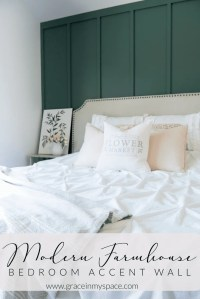 Modern Farmhouse Bedroom Accent Wall   Master Bedroom ...