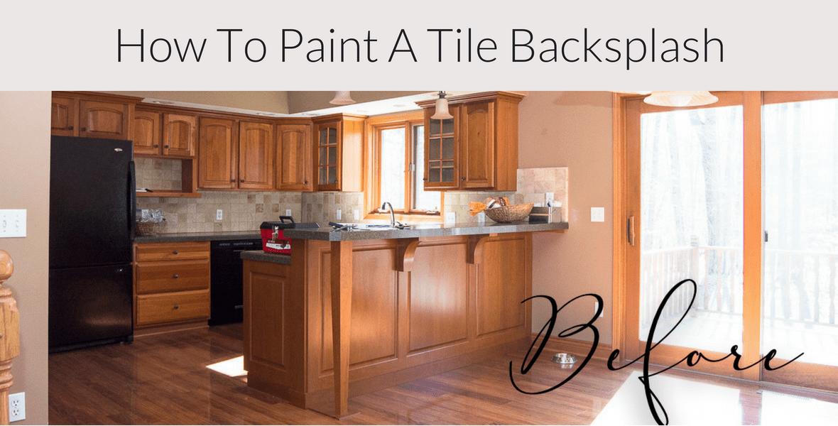 how to paint a tile backsplash kitchen
