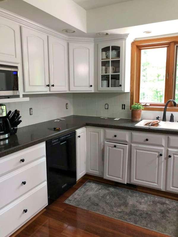 Paint Tile Backsplash Kitchen Renovation Grace In Space