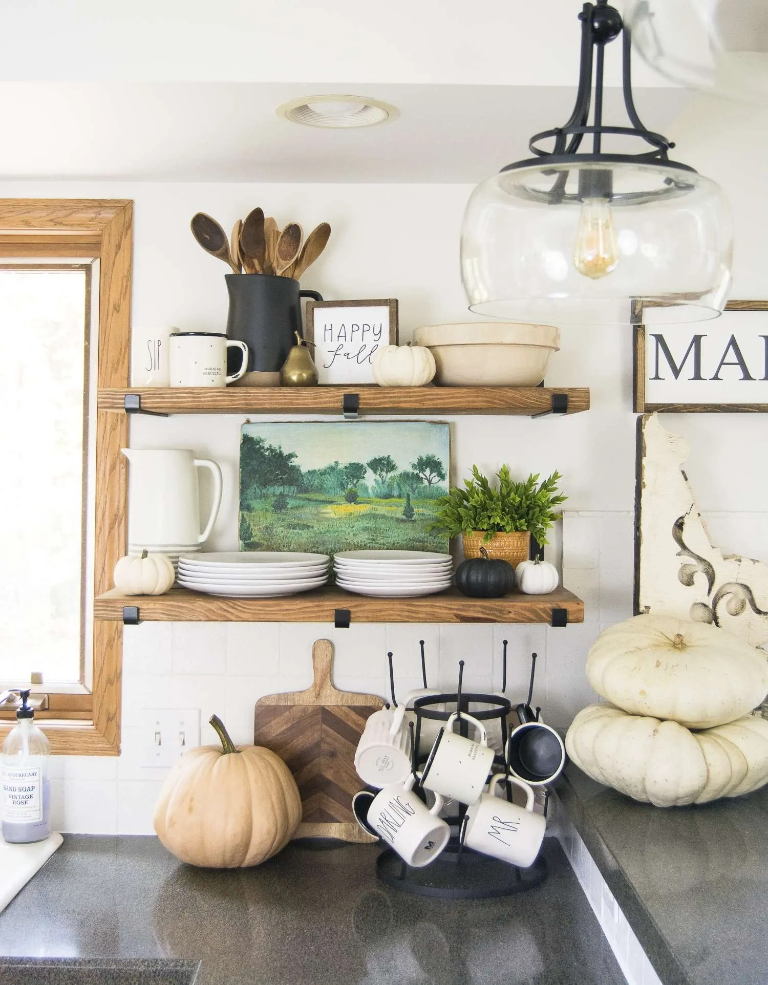 fall kitchen decor crown molding for cabinets ideas dining room grace in my space the read more to see simple and affordable