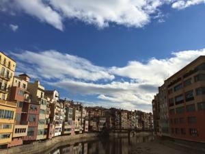 Houses on river Girona