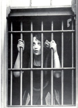 Not this! (OK, Bebe Daniels was serving time for speeding, not murder, but it's a good picture)