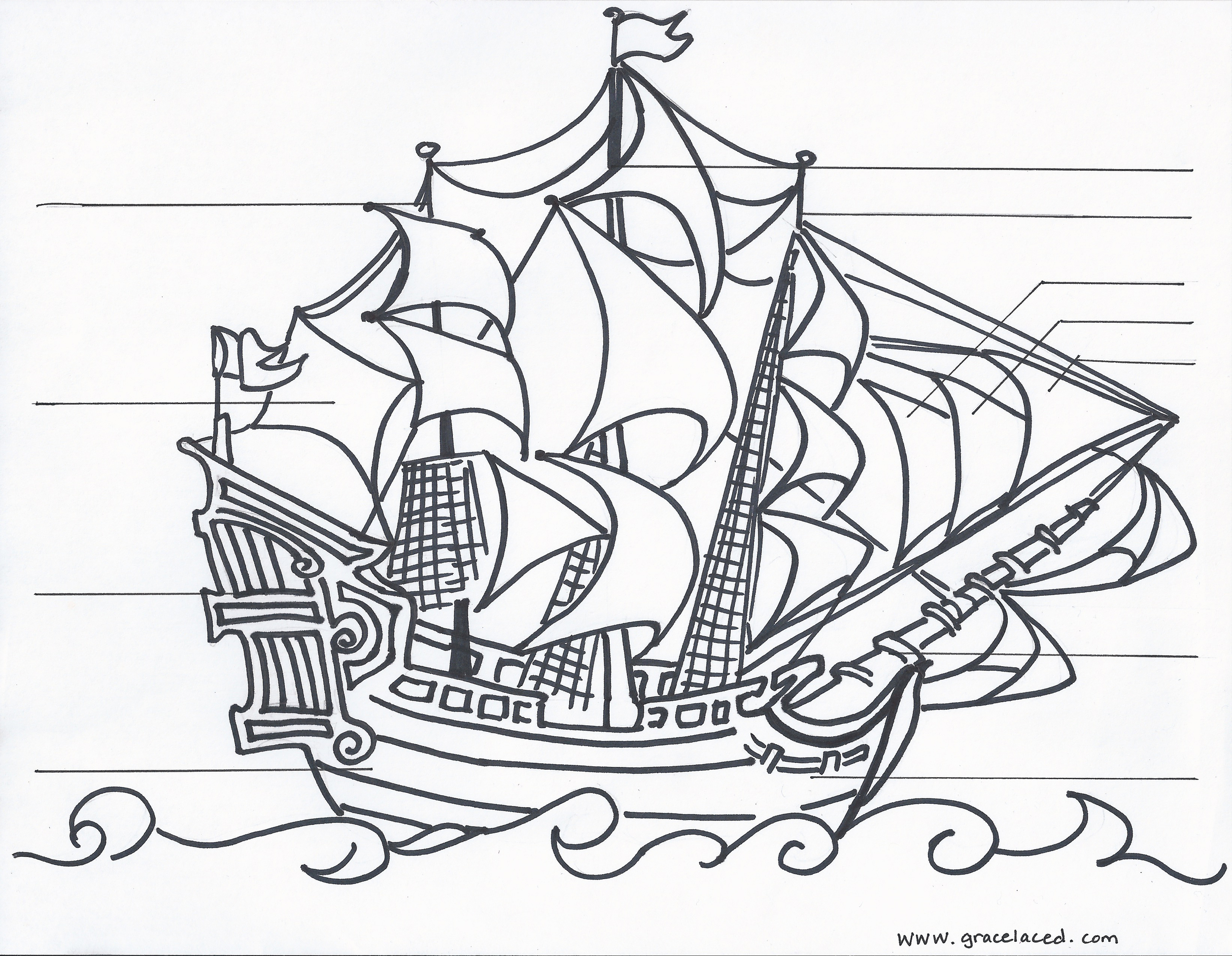 parts of a pirate ship diagram sangamo electric meter wiring the anatomy coloring sheet free