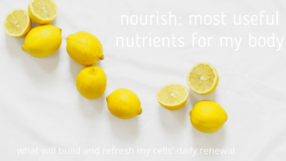 Nourish:  creating a healthy body, soul and spirit