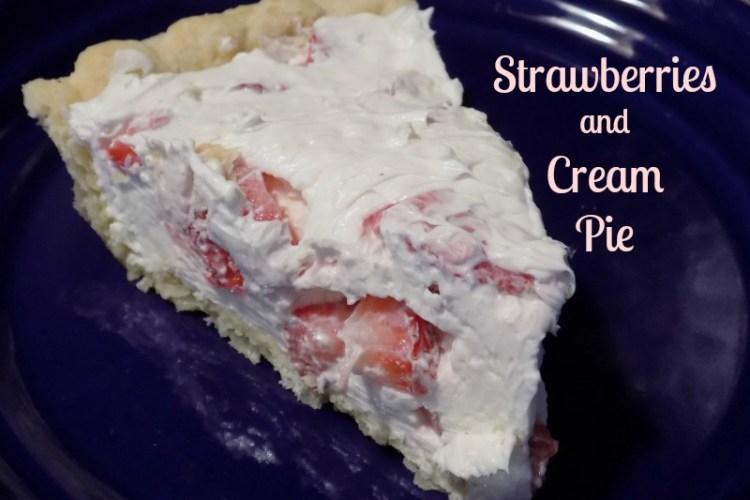 Strawberries and Cream Pie