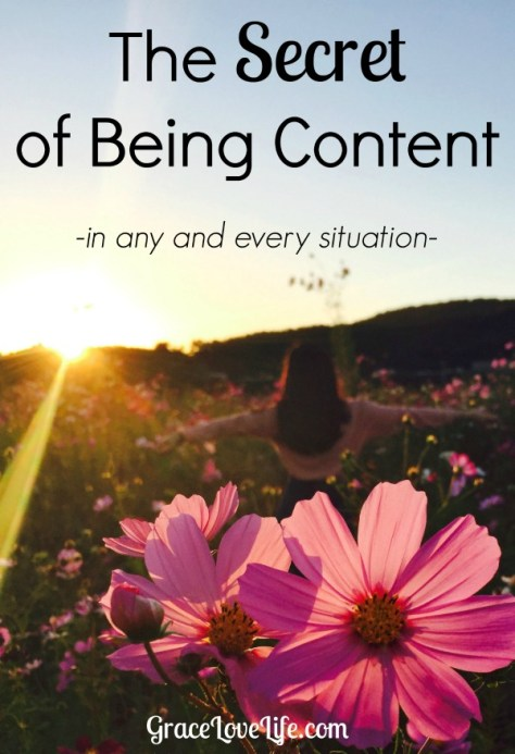 The Secret of Being Content in Any and Every Situation - GraceLoveLife