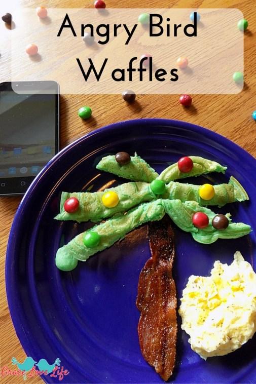 Angry Bird Waffles