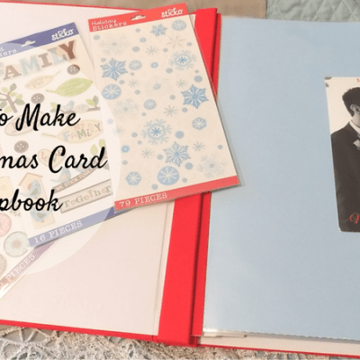 How to Make a Christmas Card Scrapbook