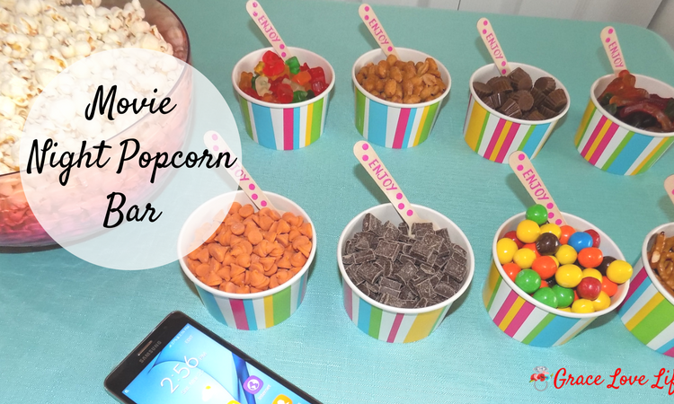 Movie Night Popcorn Bar Tutorial