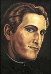 Josef Mohr, a painting at Stille-Nacht Chapel, Oberndorf, Austria